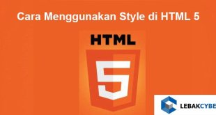 cara menggunakan style di HTML 5