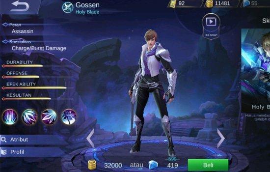 Cara Menggunakan Hero Gossen di Mobile Legends