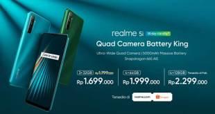 Harga dan Spesifikasi Realme 5i di Indonesia