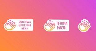 Stiker Terima Kasih Garda Depan Corona Dari Instagram