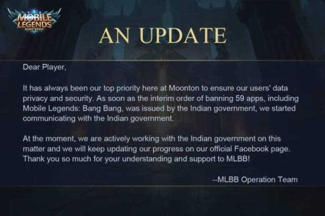 India Larang Game Mobile Legends