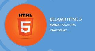 Membuat tabel di HTML