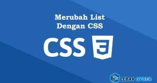 merubah list dengan css