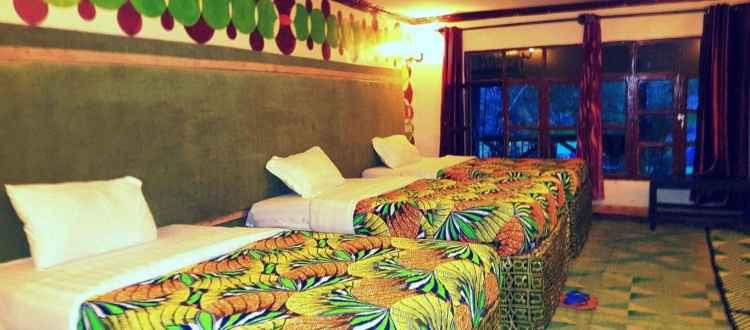 Triple Beds Room -- Le Bambou Gorilla Lodge