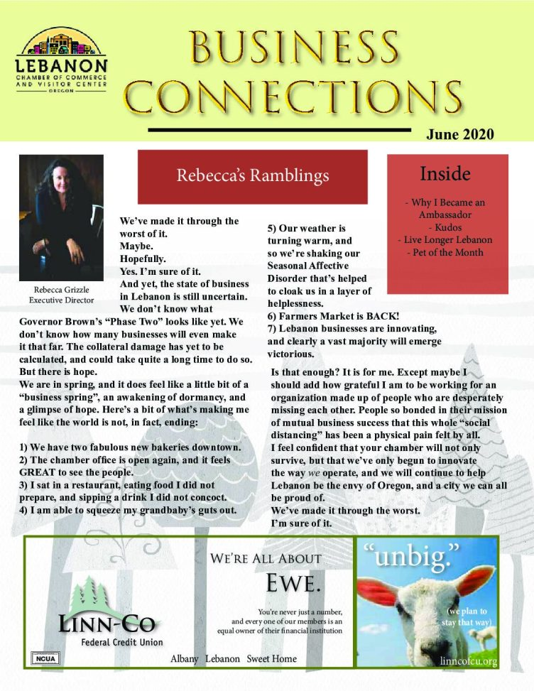 June Newsletter – Lebanon Chamber of Commerce