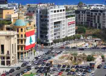 A general view shows Martyrs' Square in downtown Beirut, Lebanon August 20, 2020. Picture taken August 20, 2020. REUTERS/Aziz Taher