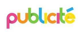 "Icne multicolore ""PUBLICITE"""