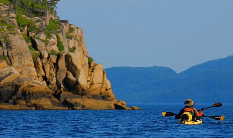 Fjord en Kayak
