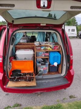 L'arrière du van