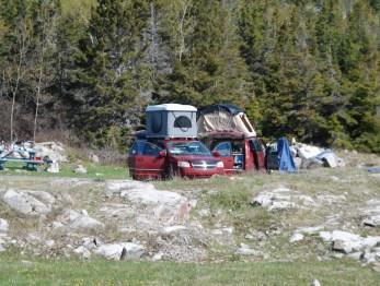 Les deux tentes en roadtrip