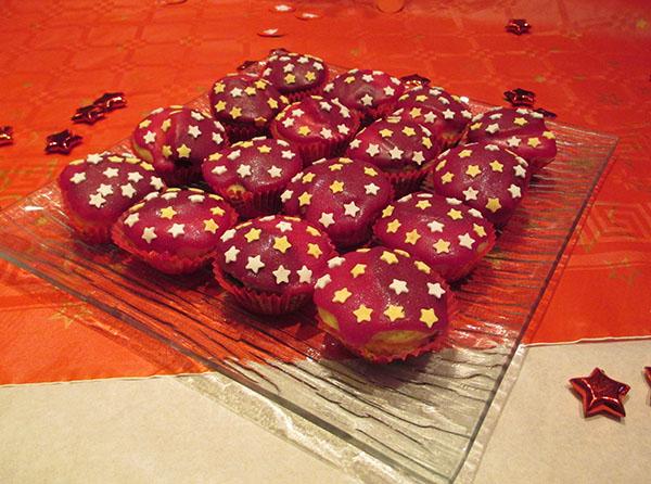 jolis muffins étoilés maison