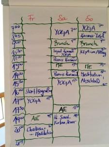 Tafel Yogawochenende