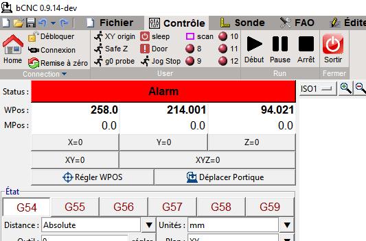 2019 05 08 11 35 23 bCNC 0.9.14 dev - GRBL, Homing et fins de course.
