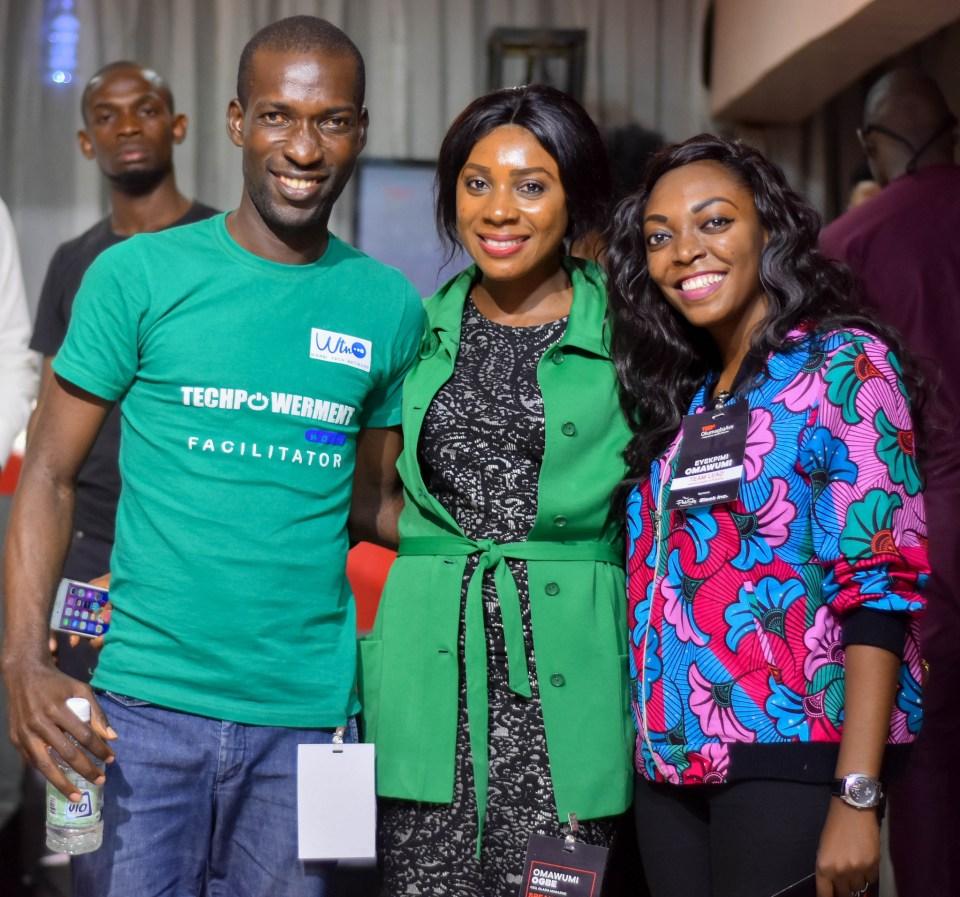 Paul Okoro (ED, Warri Tech Network), Omawumi Ogbe (Speaker and CEO, Glazia), Me!