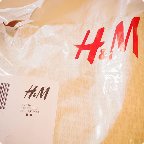 12 von 12 - März 2014 - Bestellung - Klamotten - H&M - Paket