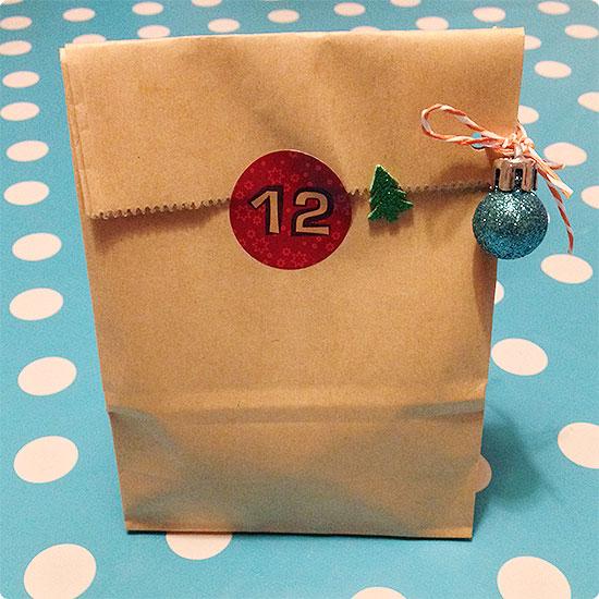 12 von 12 - Dezember 2014 - Adventskalender - 12. Tütchen