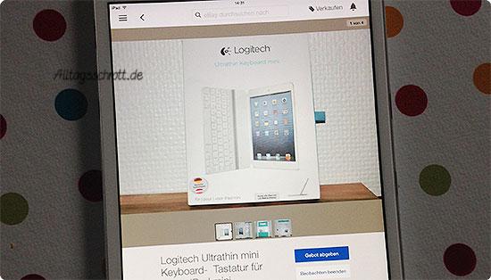 12 von 12 - Juli 2015 - Zubehör für das iPad mini im Auktionshaus