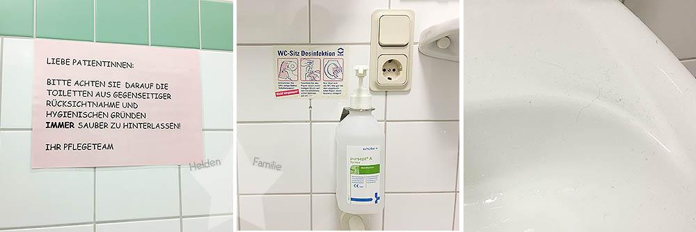 Schwangerschaftsdiabetes - Krankenhaus - Hygiene nicht ok - Unhygienisch
