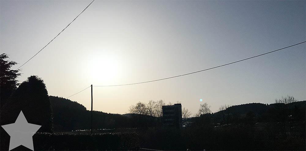 12von12 - Frühling - Sonne geht unter