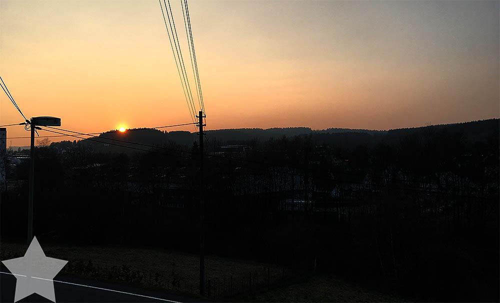 Sonnenwochenende - Sonnenuntergang