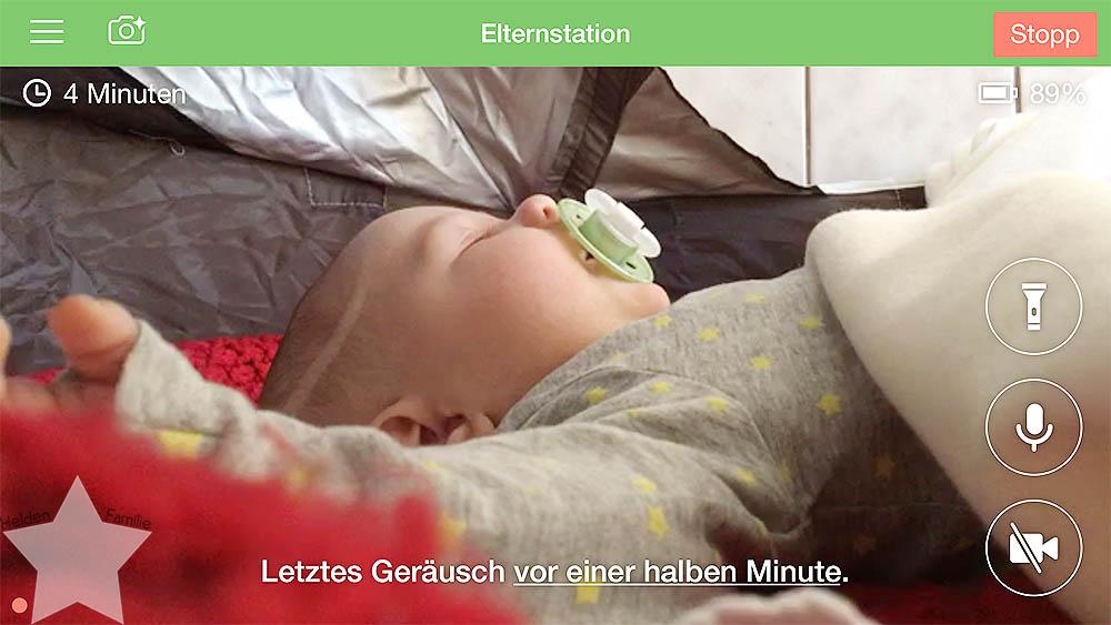 Sonnenwochenende - Babyfon-App