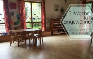 Eingewöhnung im Montessori Kinderhaus - 3. Woche