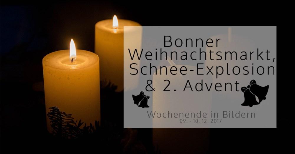 Bonner Weihnachtsmarkt, Schnee-Explosion und 2. Advent | Wochenende in Bildern 09. – 10. 12.