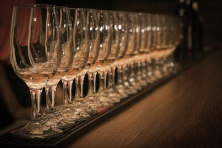 23294980 - rum-tasting row of rum-glasses