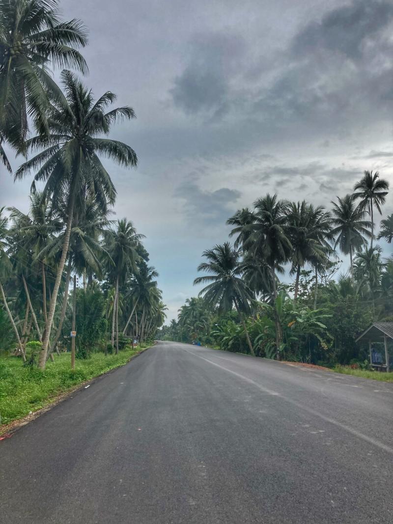 Straßen in Chumphon Thailand