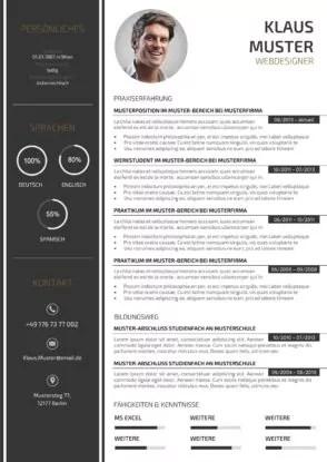 """Suche nach """"lebensläufe"""", um mit dem design zu beginnen. 77 Lebenslauf Vorlagen Muster 2021 Lebenslaufdesigns De"""