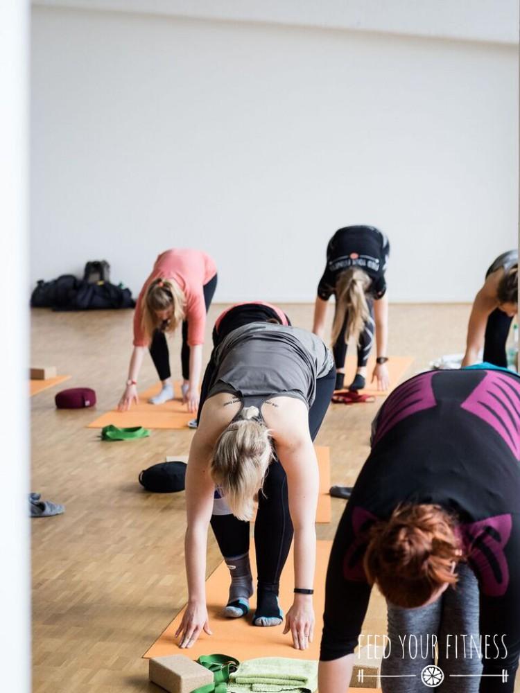 Instagram Bloggertreffen von FEED YOUR FITNESS Yoga Sonnengruß