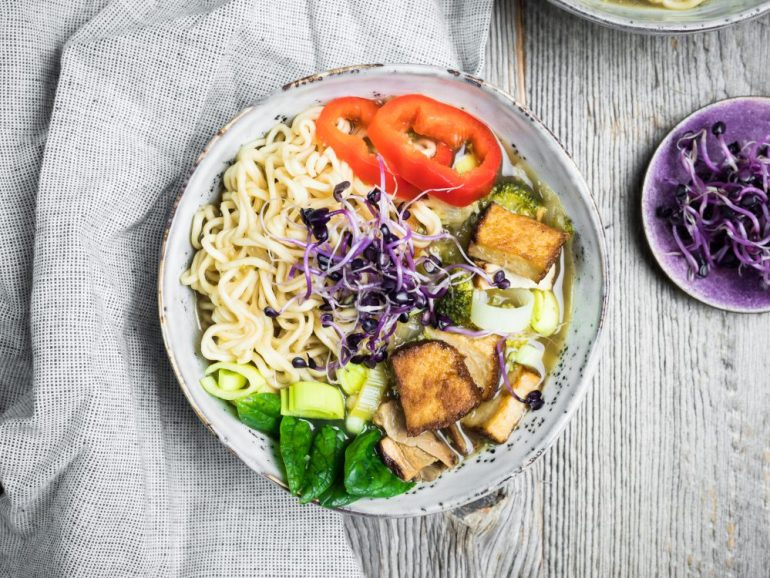 Ramen Nudeln für vegane Ramen