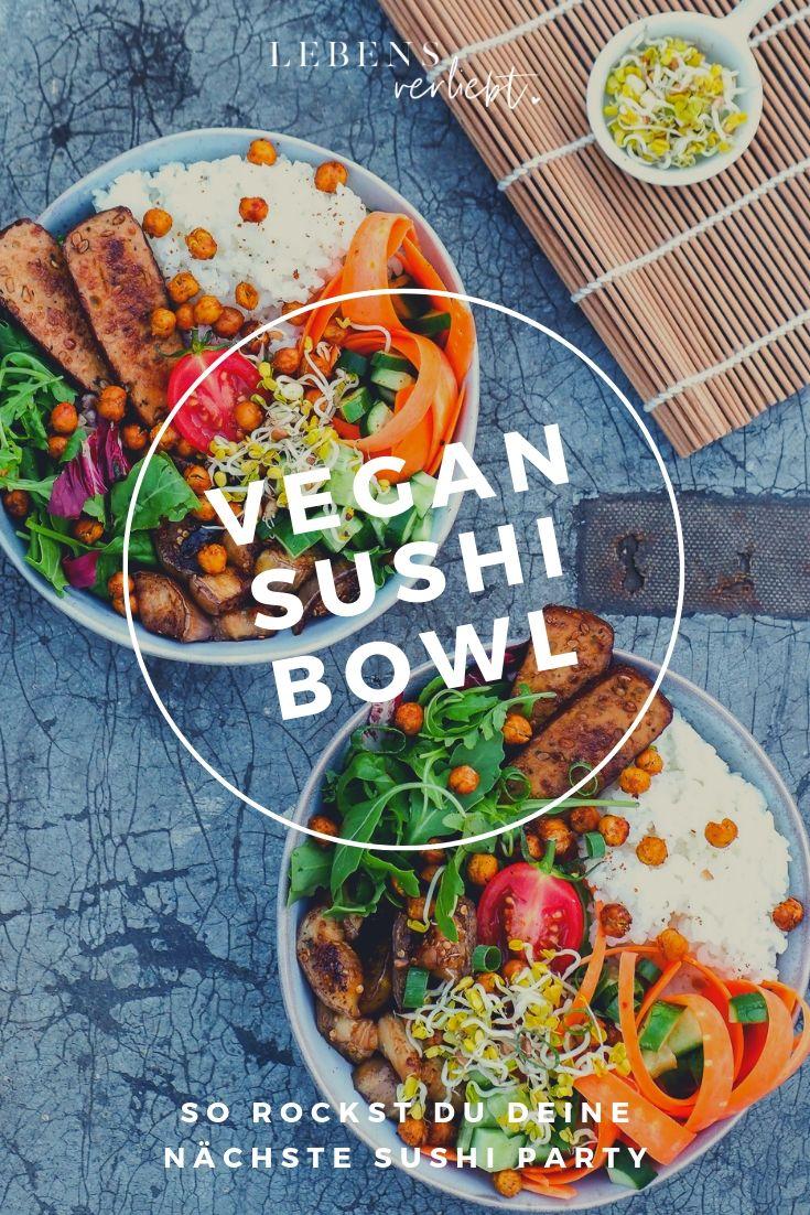 Vegan Sushi Bowl auf lebensverliebt.de