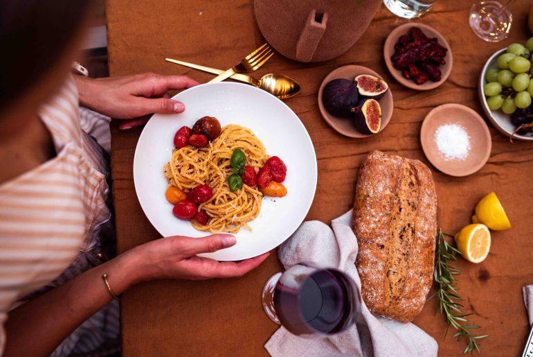 Rezept für Pasta mit gerösteten Tomaten_dein Italien_Urlaub Zuhause auf lebensverliebt.de