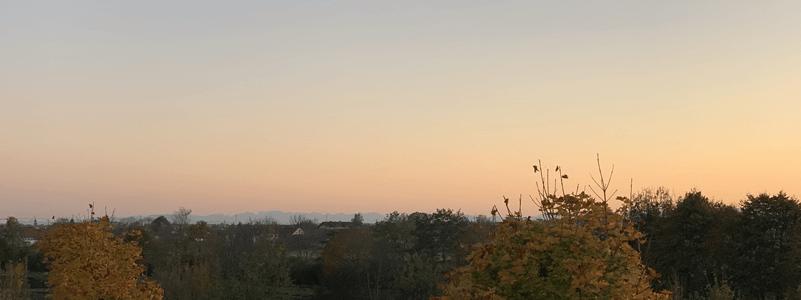 Berge im Sonnenuntergang