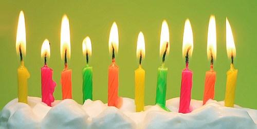 Bougies anniversaire