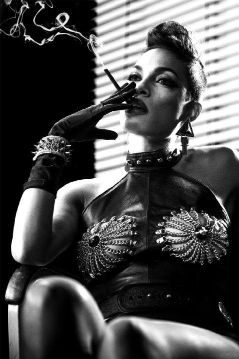 "Fendelman, A. (2014). Rosario Dawson as Gail in ""Sin City: A Dame to Kill For"". [jpg]. Retrieved from http://www.hollywoodchicago.com/sites/default/files/sincity4.jpg"