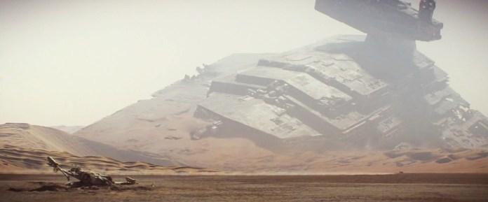 Epave d'un vaisseau de combat destroyer - Droits réservés, Lucasfilm Ltd, The Walt Disney Company.
