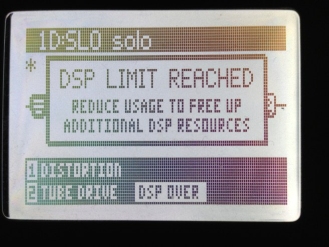 DSP Limit Reached