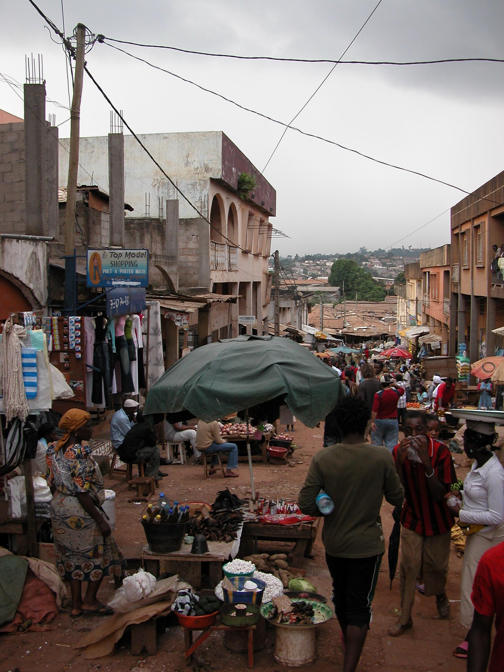 Un marché à Yaoundé