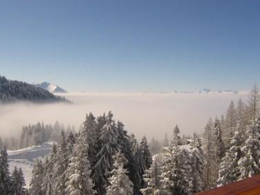 Etre au-dessus des nuages...