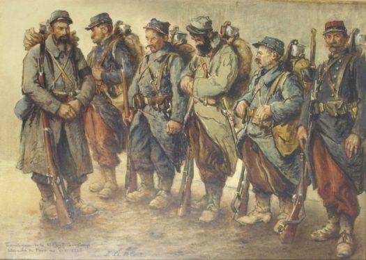 On les appelait les « pépères ». Les soldats des régiments territoriaux sont les plus âgés engagés dans le conflit. Affectés aux travaux annexes, soit disant tranquilles. Ils sont par la force des choses aussi amenés à combattre. Ils payent un lourd tribut.