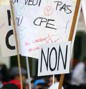 7 février: 1er mouvement contre le CPE, qui durera deux mois