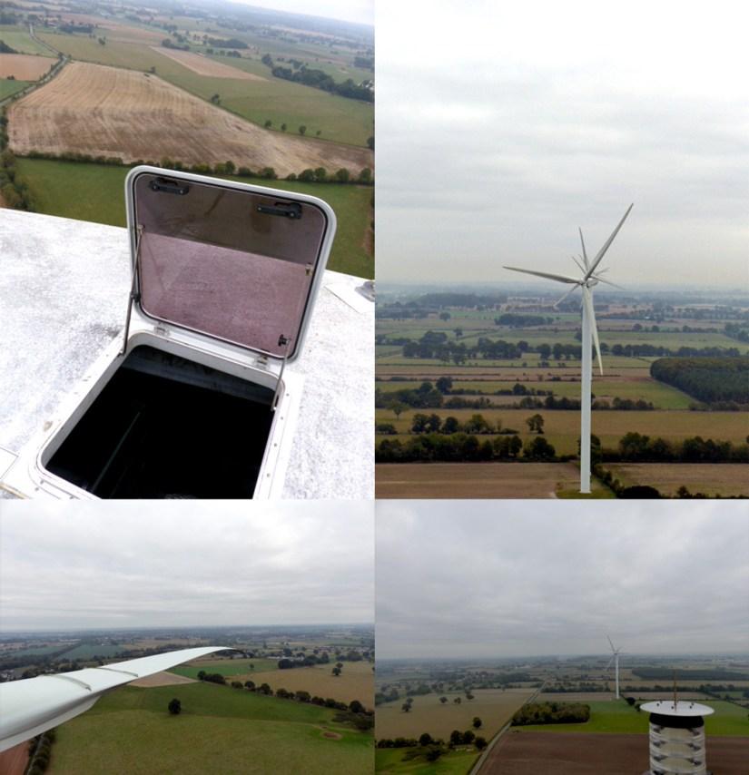 Visite des éoliennes du Parc de la Renardière