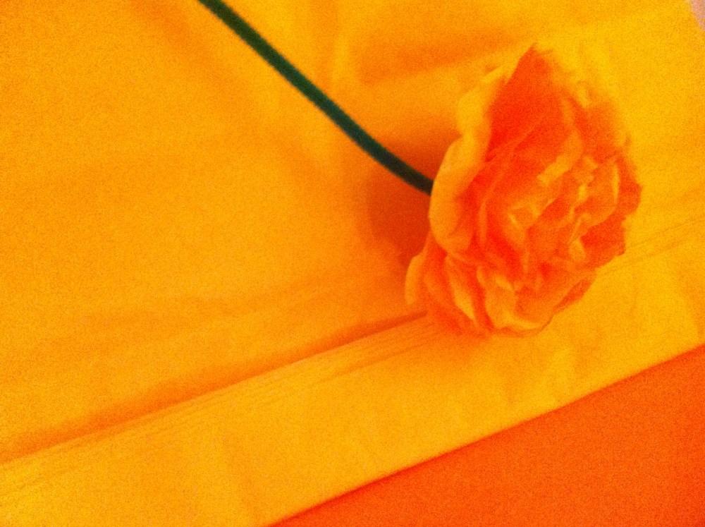 Fleur de papier soie pour enfants / flores de papel seda para niños (4/6)