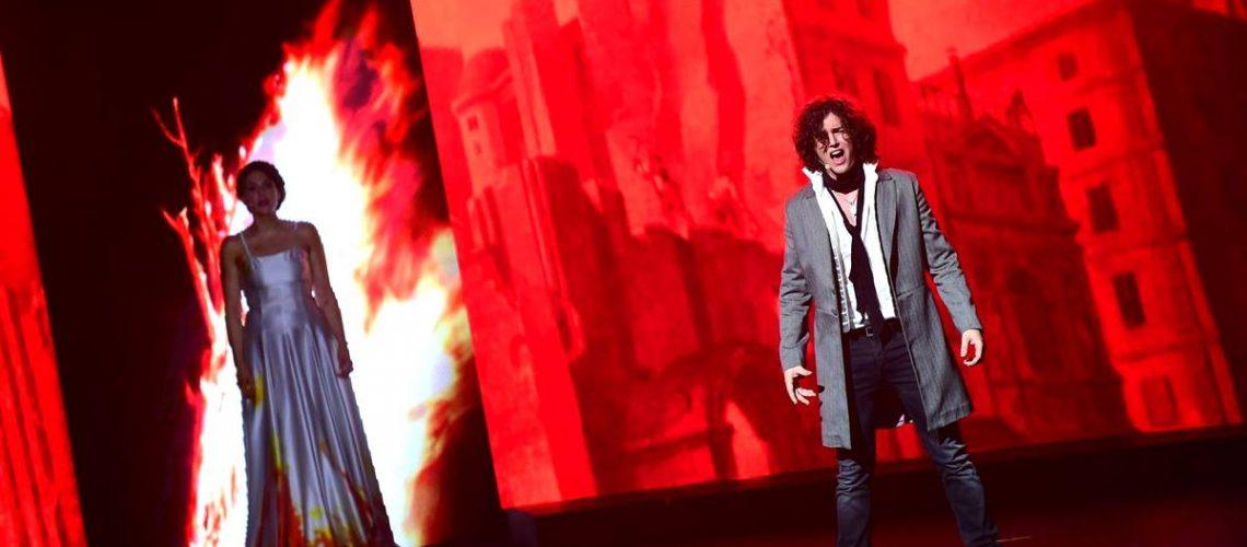 Le Rouge et le noir, opéra rock : Julien Sorel et Mme de Rénal