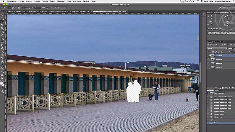 Comment obtenir une photo, sans piétons avec Photoshop