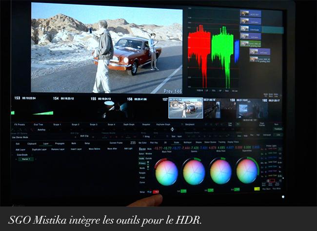 SGO Mistika intègre les outils pour le HDR.