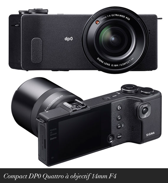 Compact DP0 Quattro à objectif 14mm F4