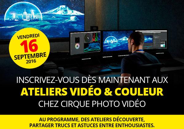 Journée atelier vidéo chez cirque photo vidéo